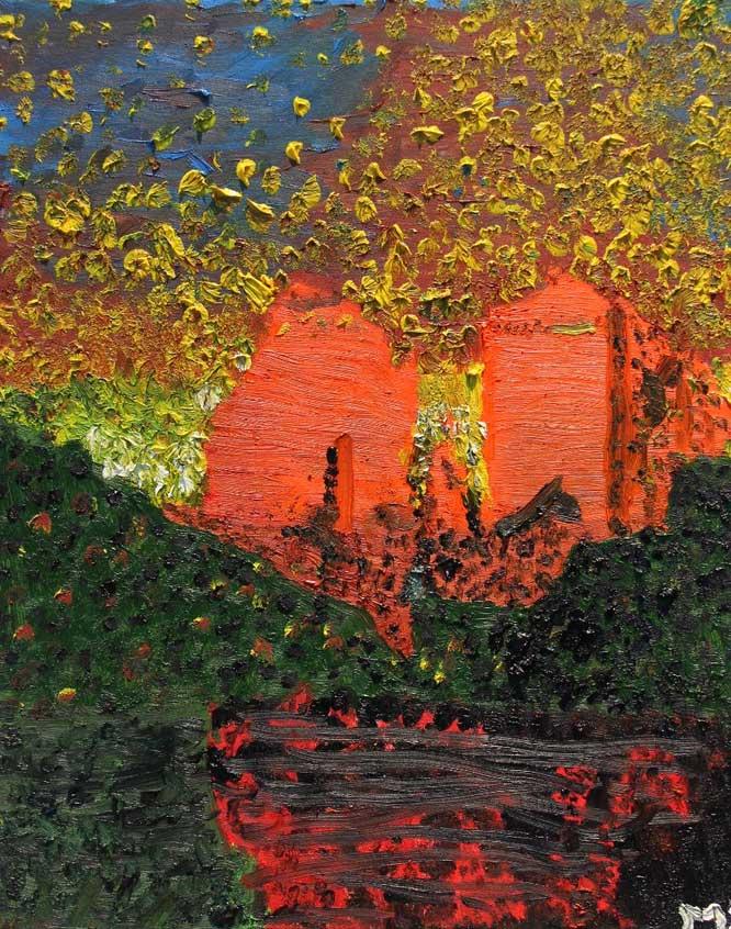 Arizona Sunset oil painting