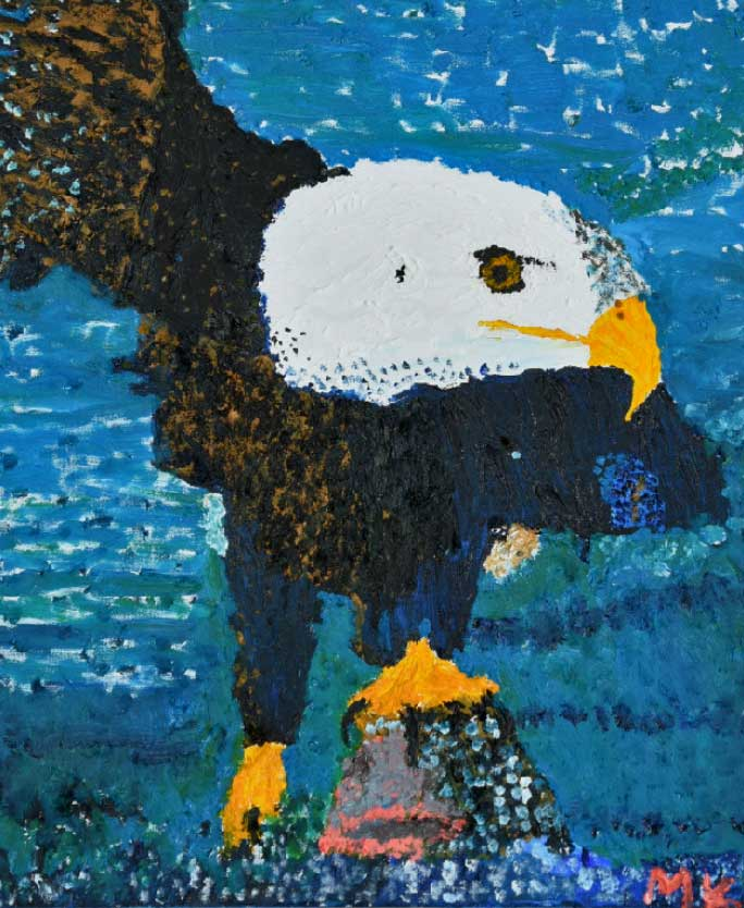 Bald Eagle oil painting